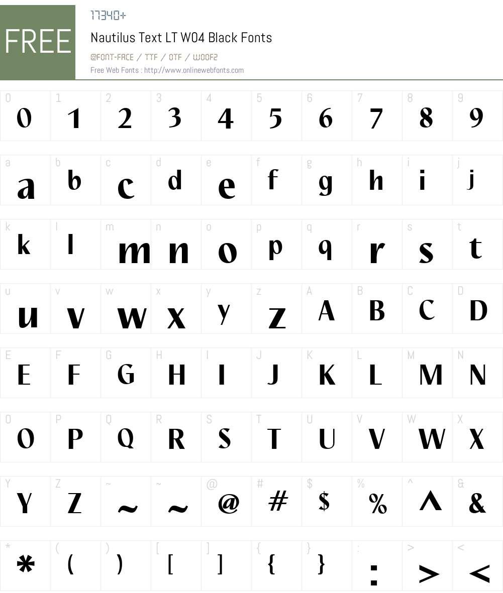 Nautilus Text Font Screenshots