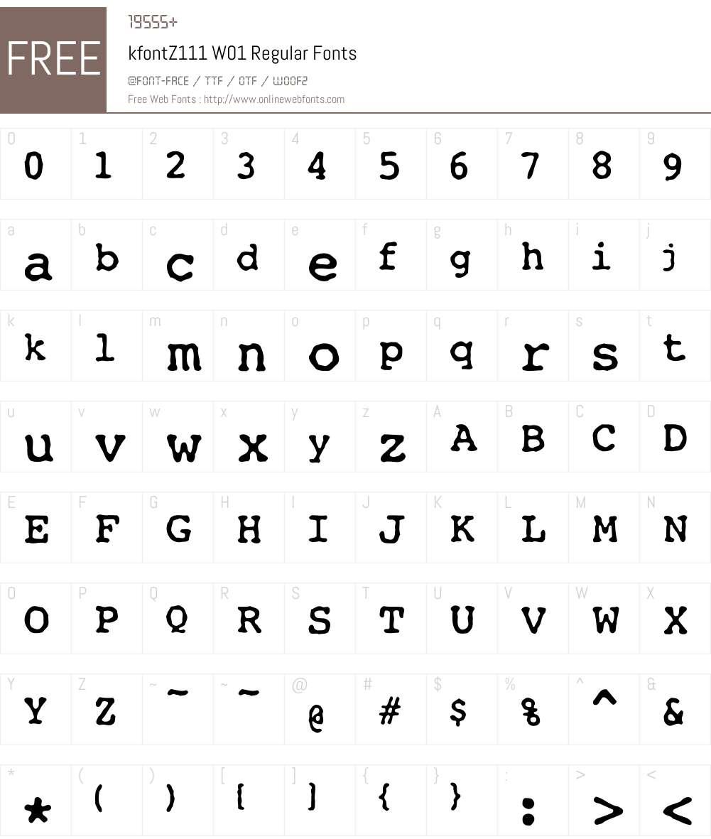 kfontZ111W01-Regular Font Screenshots