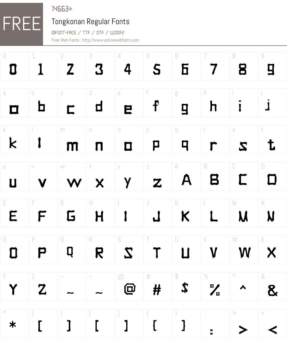 Tongkonan Font Screenshots