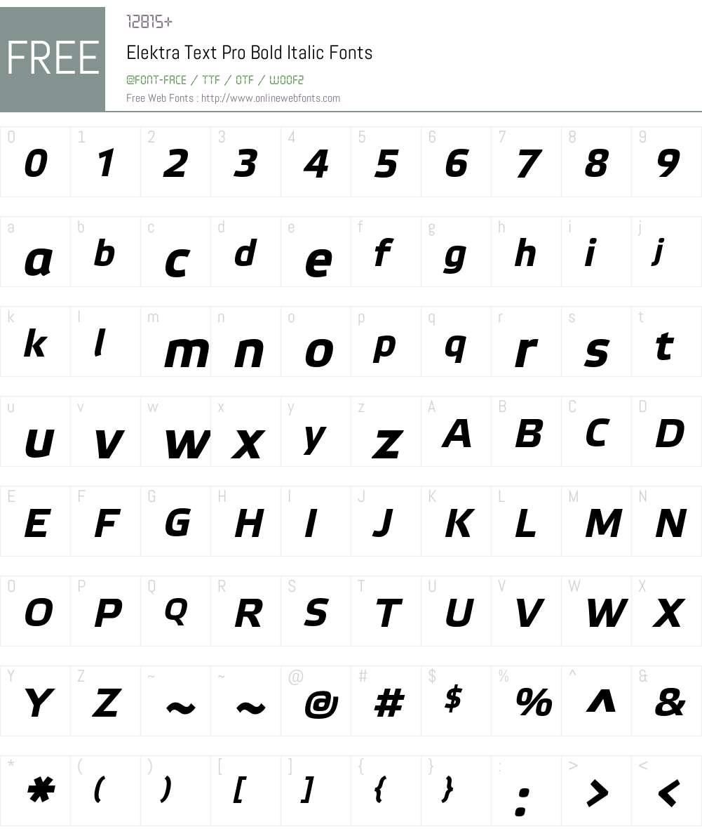 Elektra Text Pro Font Screenshots