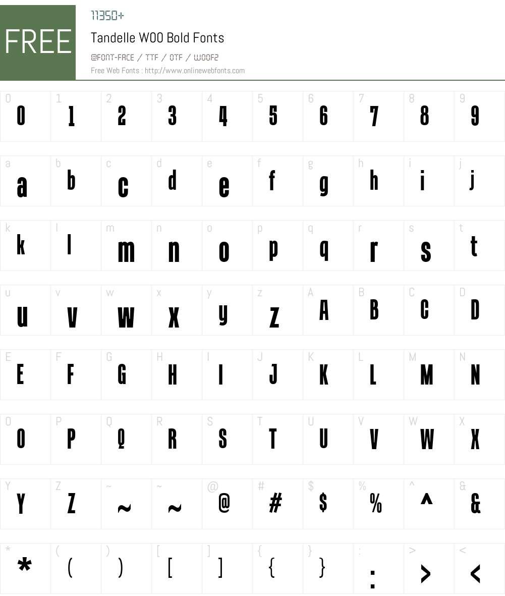 TandelleW00-Bold Font Screenshots