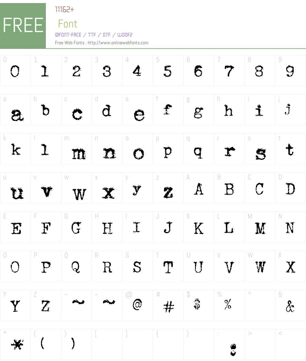 Sears Tower Font Screenshots