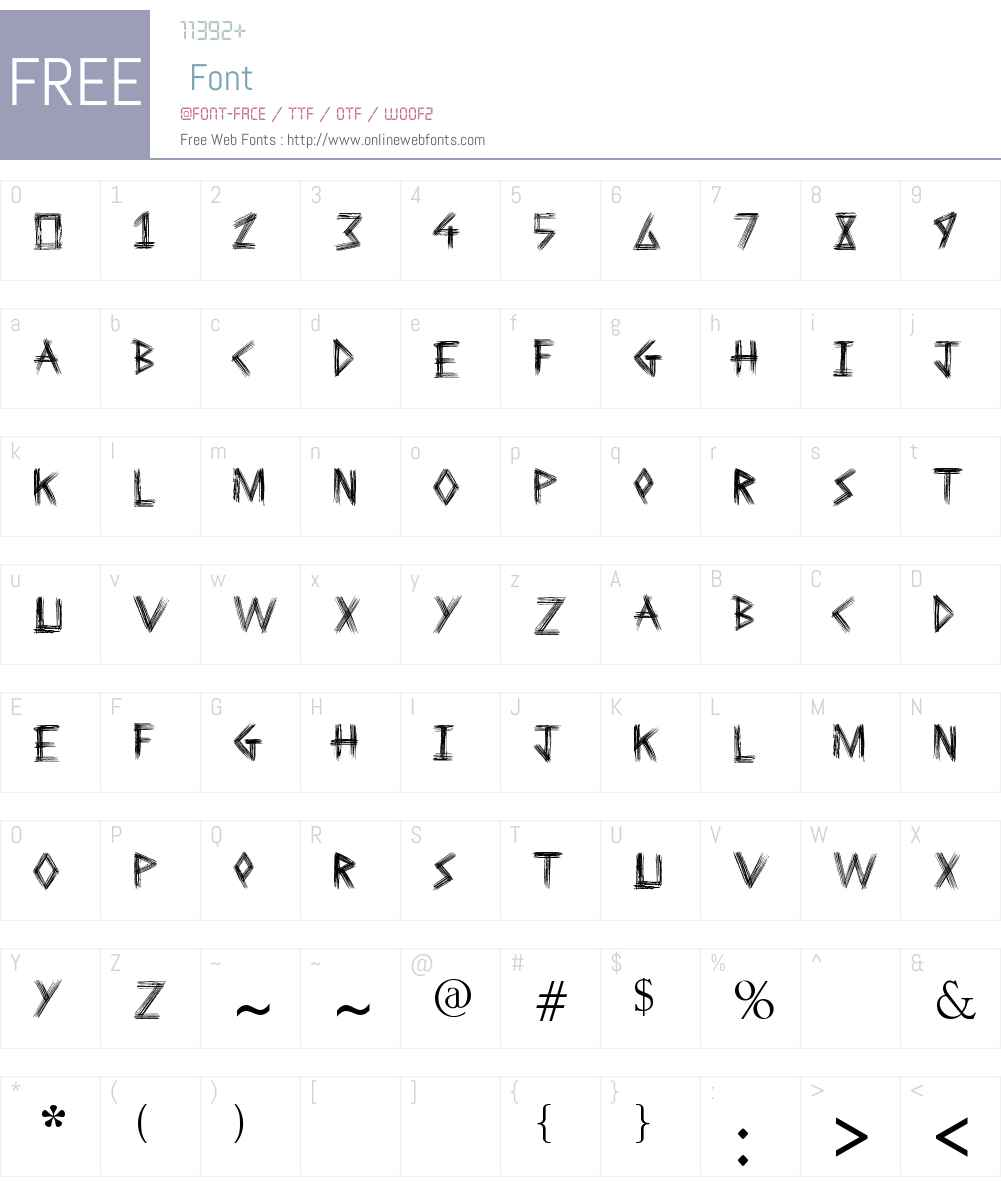 Sketchline Font Screenshots