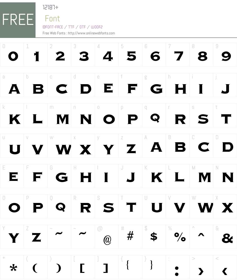 Graverplate Extrabold Font Screenshots