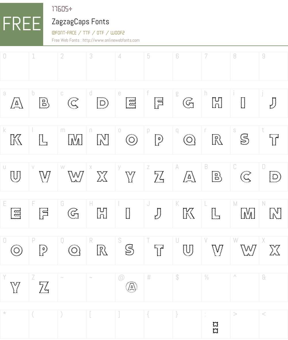 ZagzagCaps Font Screenshots