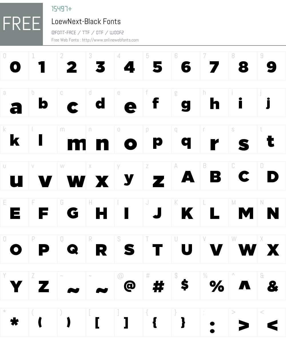 Loew Next Black Font Screenshots