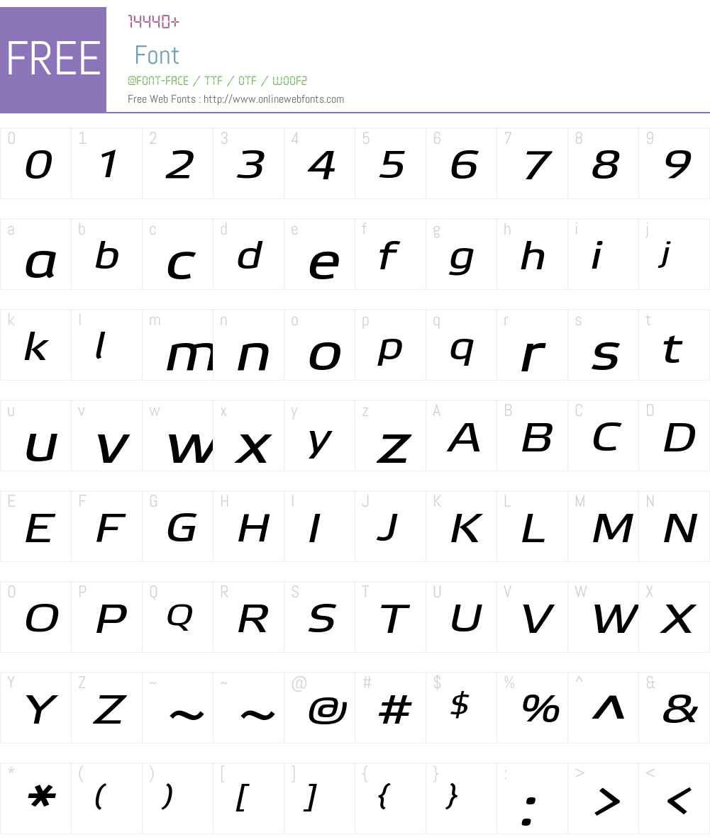 Etelka Wide Text Pro Font Screenshots