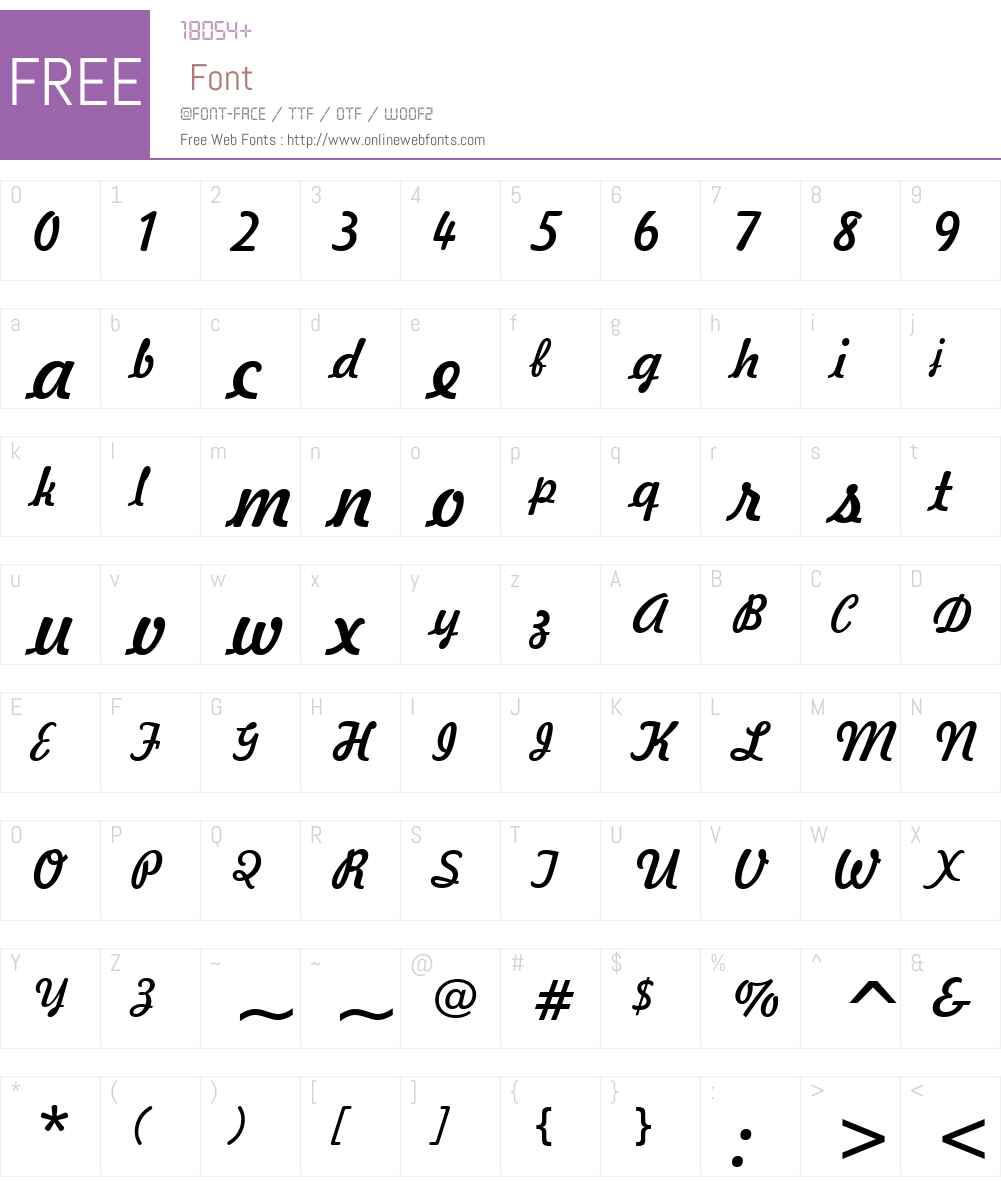 Freehand521 BT Font Screenshots