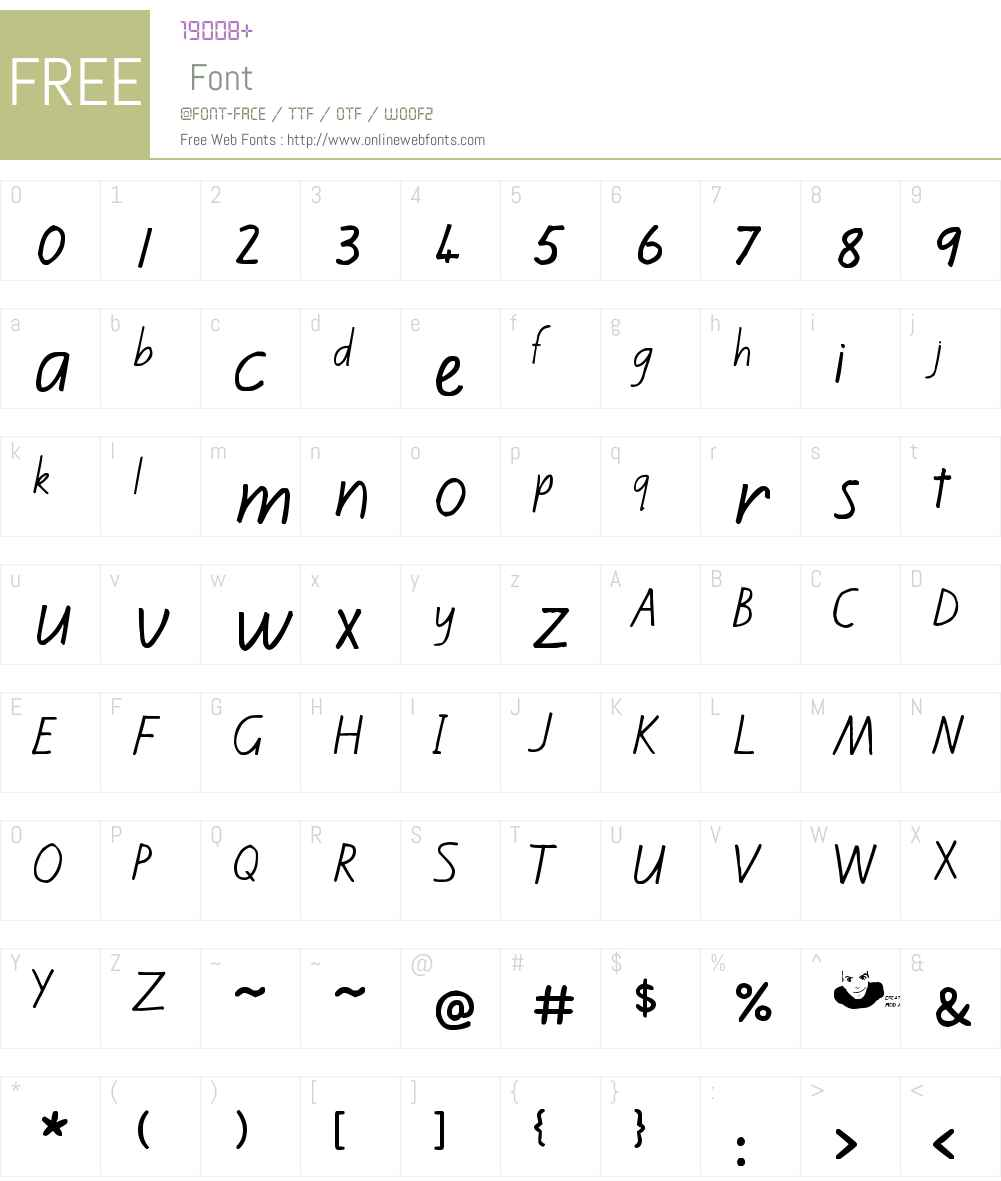 Kiwi School Handwriting Font Screenshots
