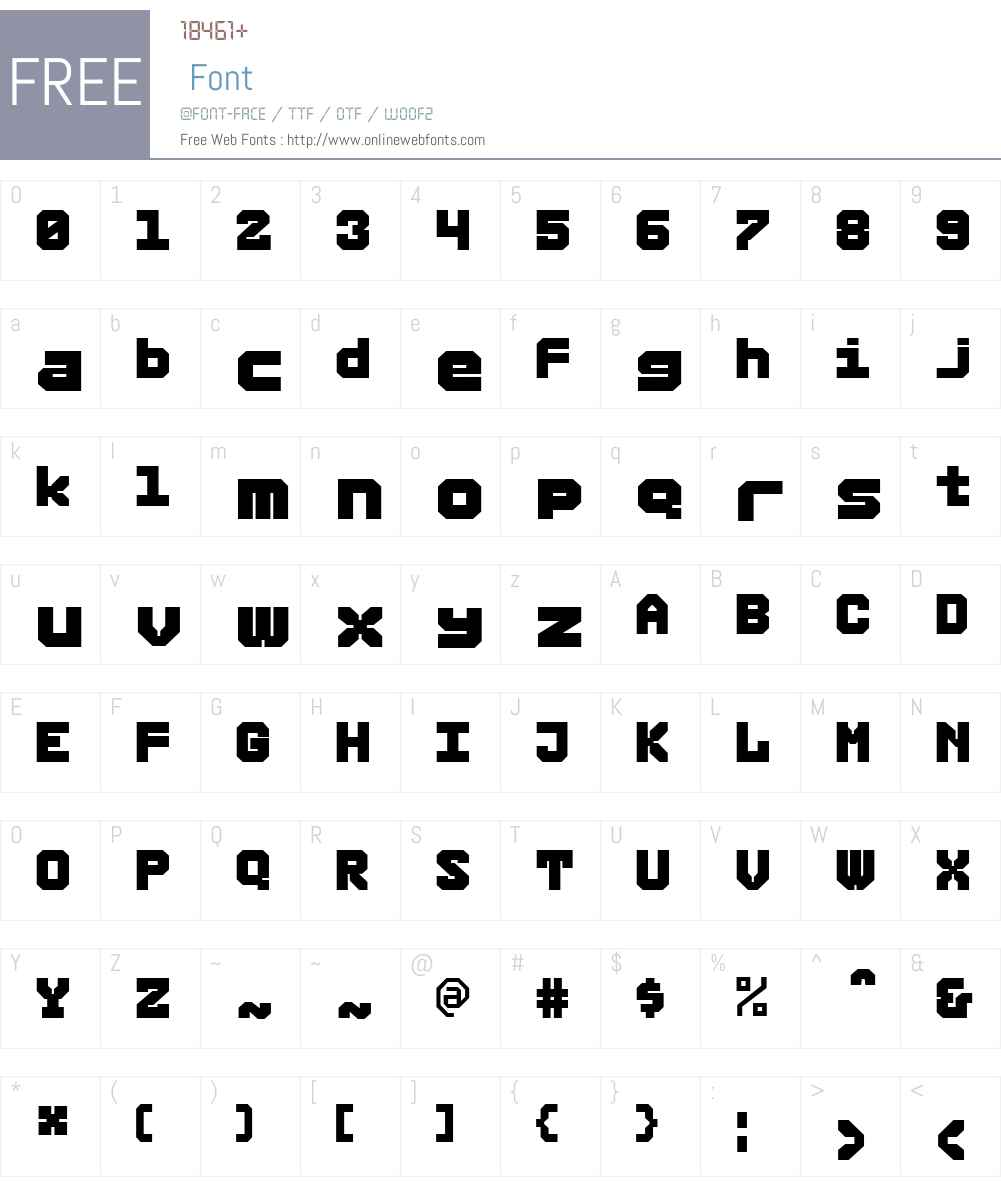 RubberW00-Large Font Screenshots