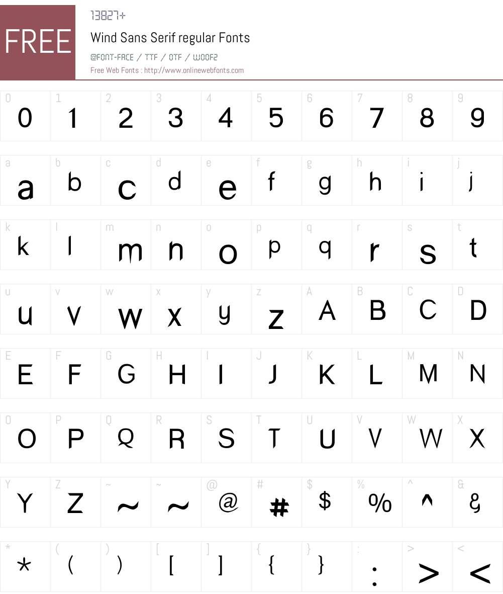 Wind Sans Serif Font Screenshots