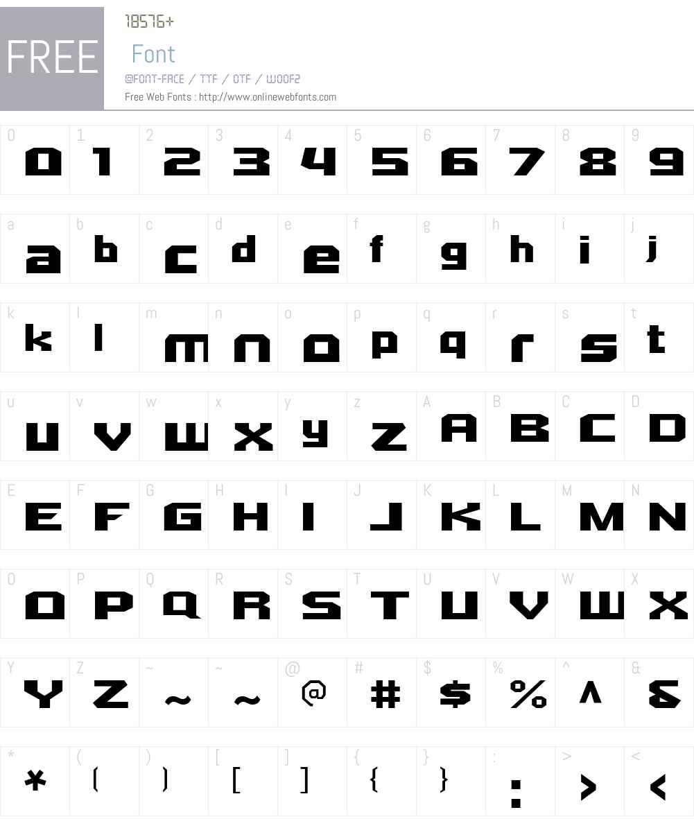 Quadrangle Font Screenshots