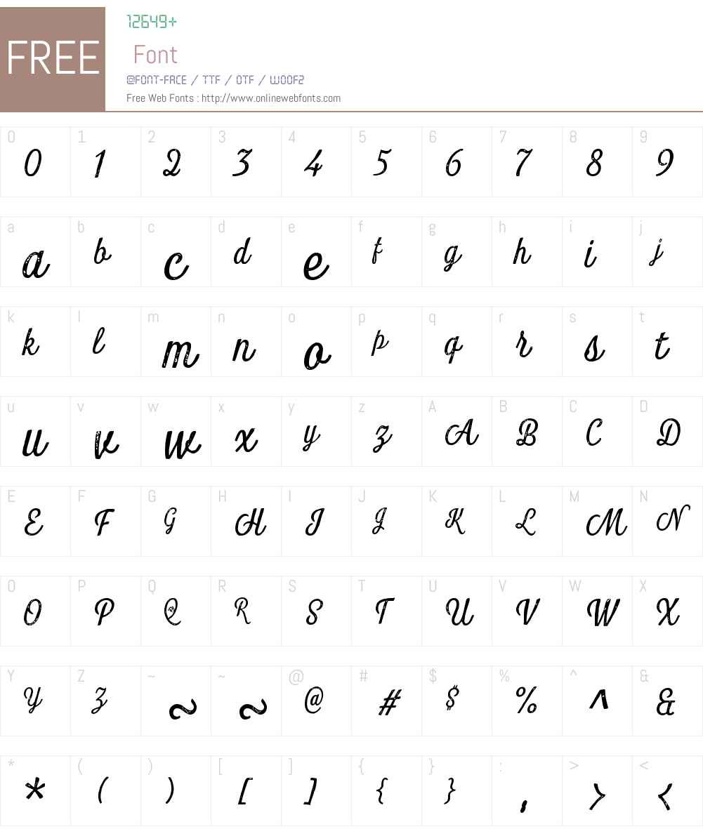 LookScriptW01-PrintRegular Font Screenshots