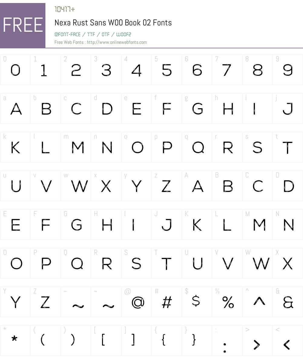 NexaRustSansW00-Book02 Font Screenshots