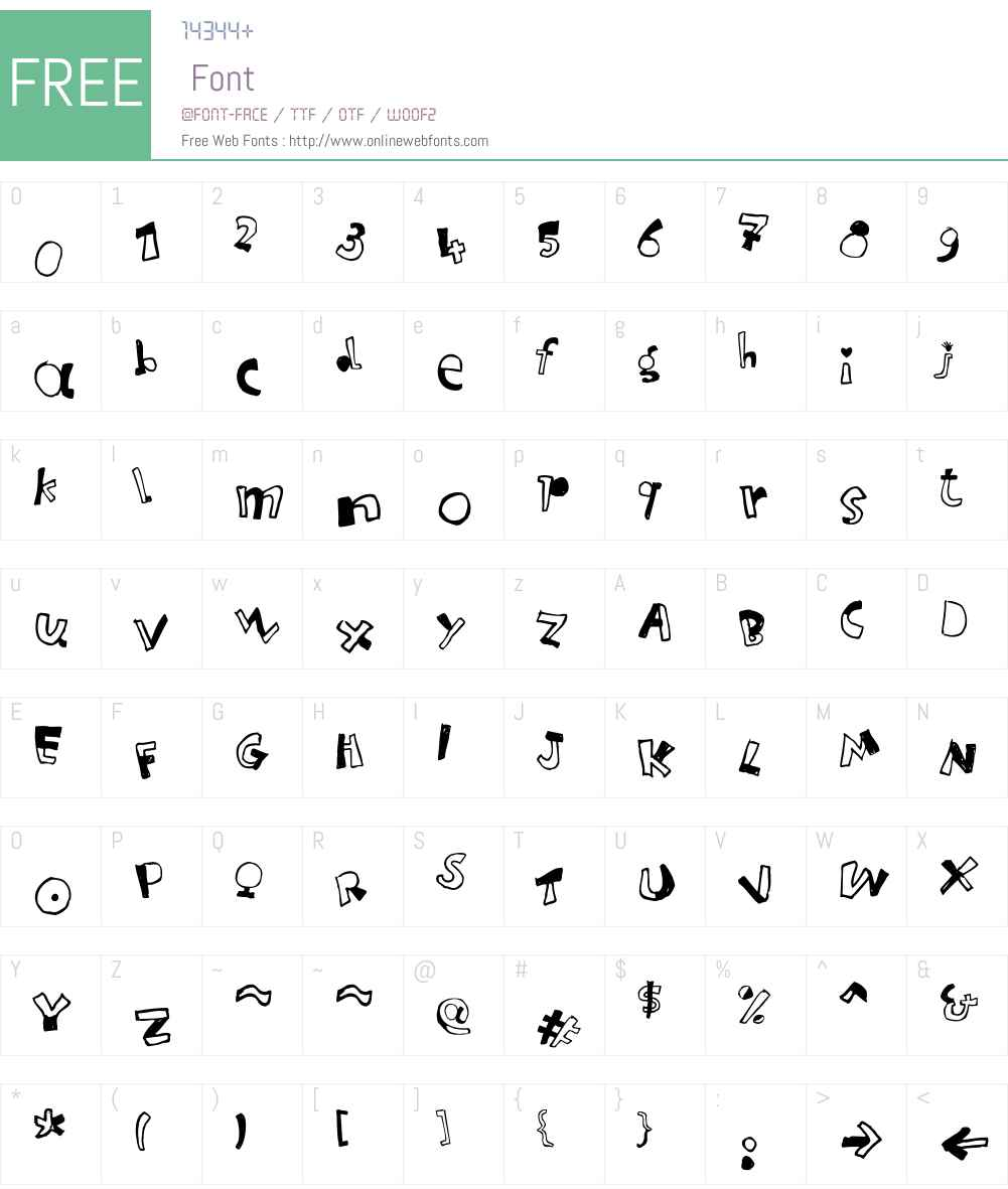 Letterine Font Screenshots