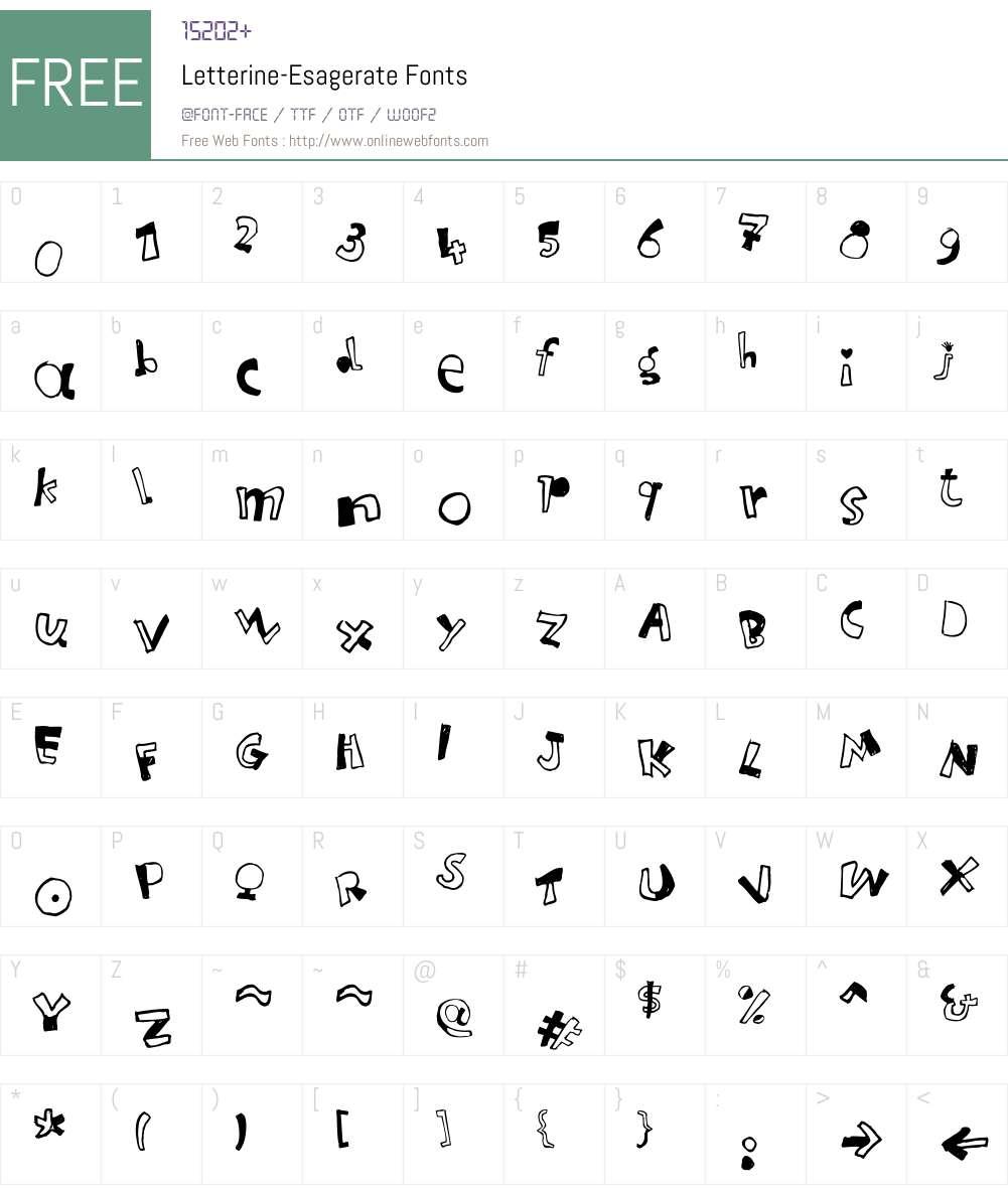 Letterine Font Screenshots