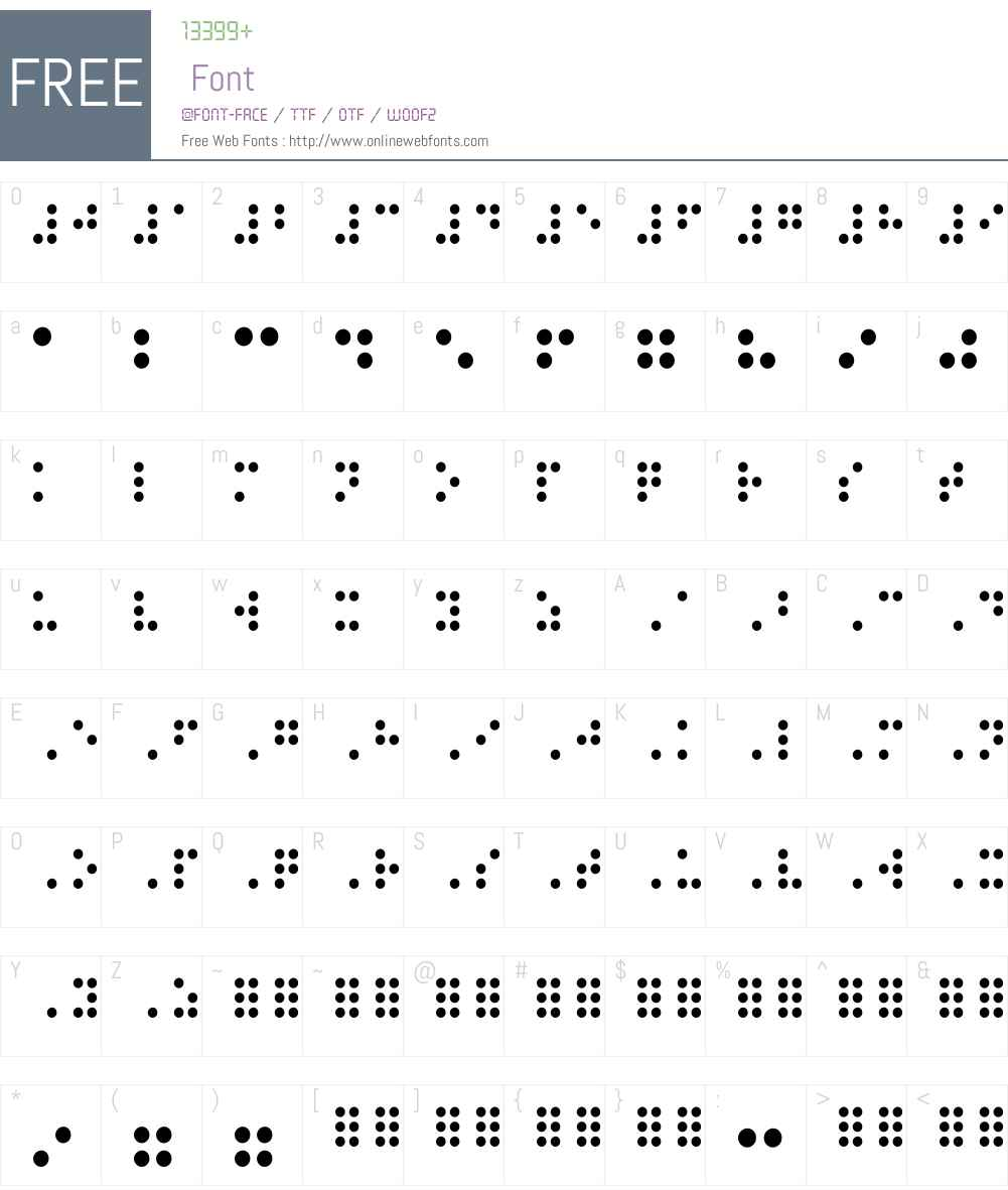 Braille Font Screenshots
