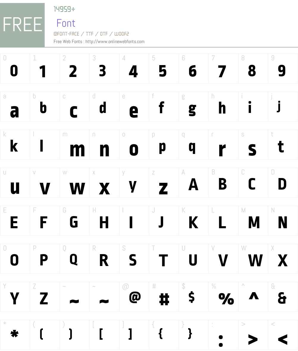 RopaSansW01-ExtraBold Font Screenshots
