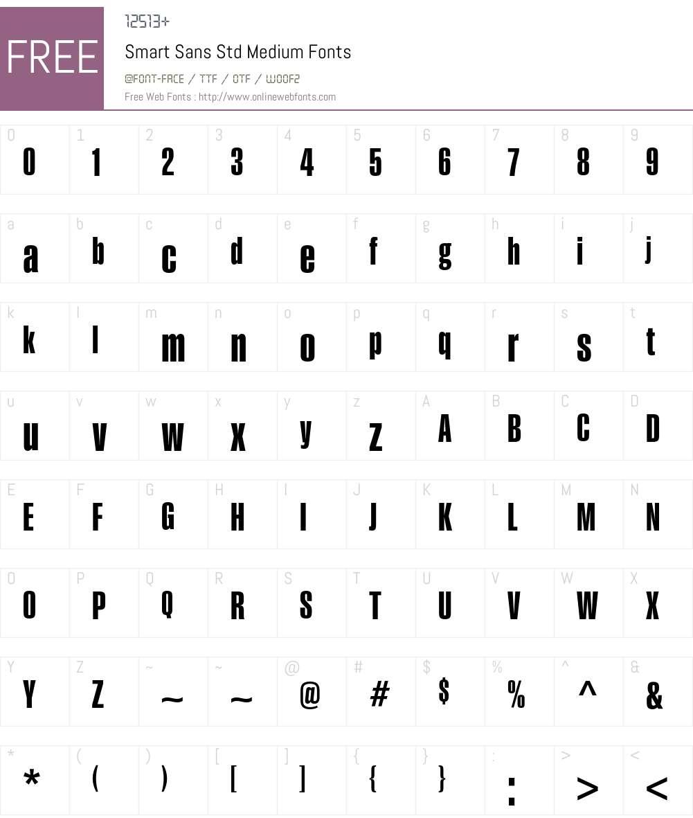 Smart Sans Std Font Screenshots