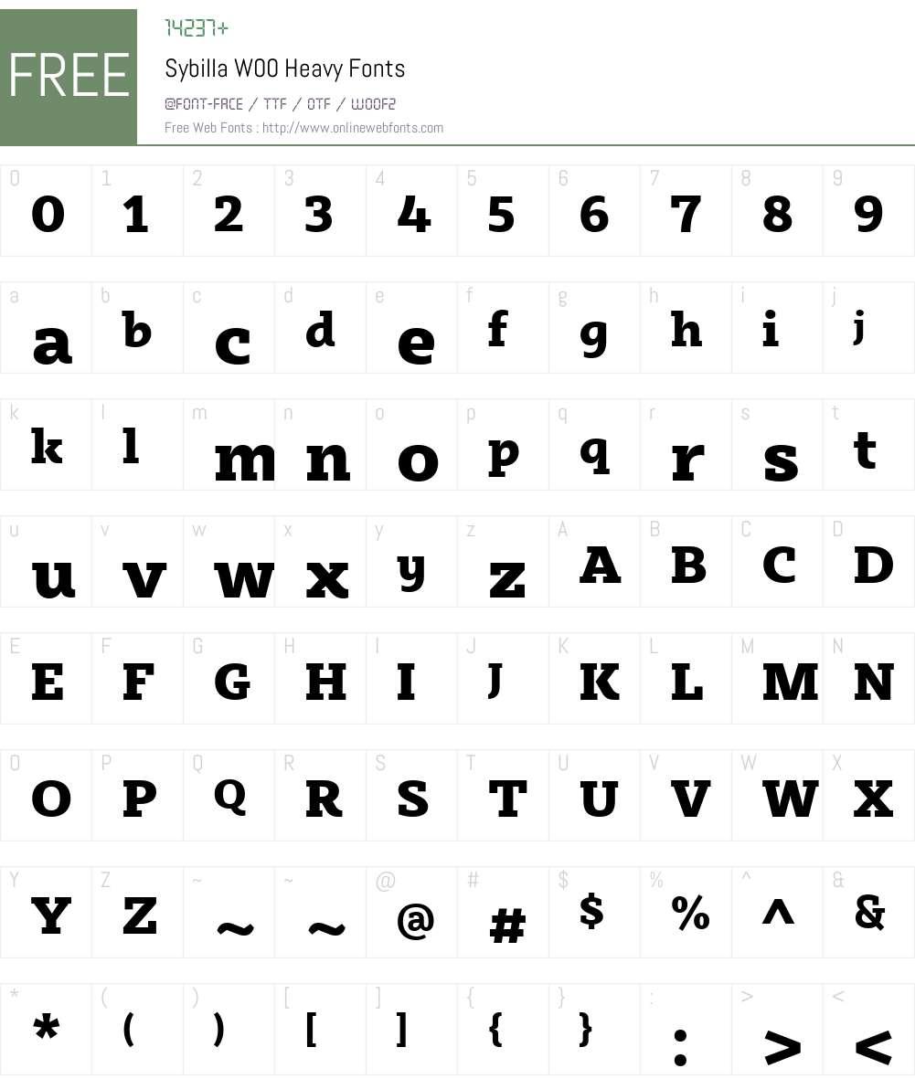 SybillaW00-Heavy Font Screenshots
