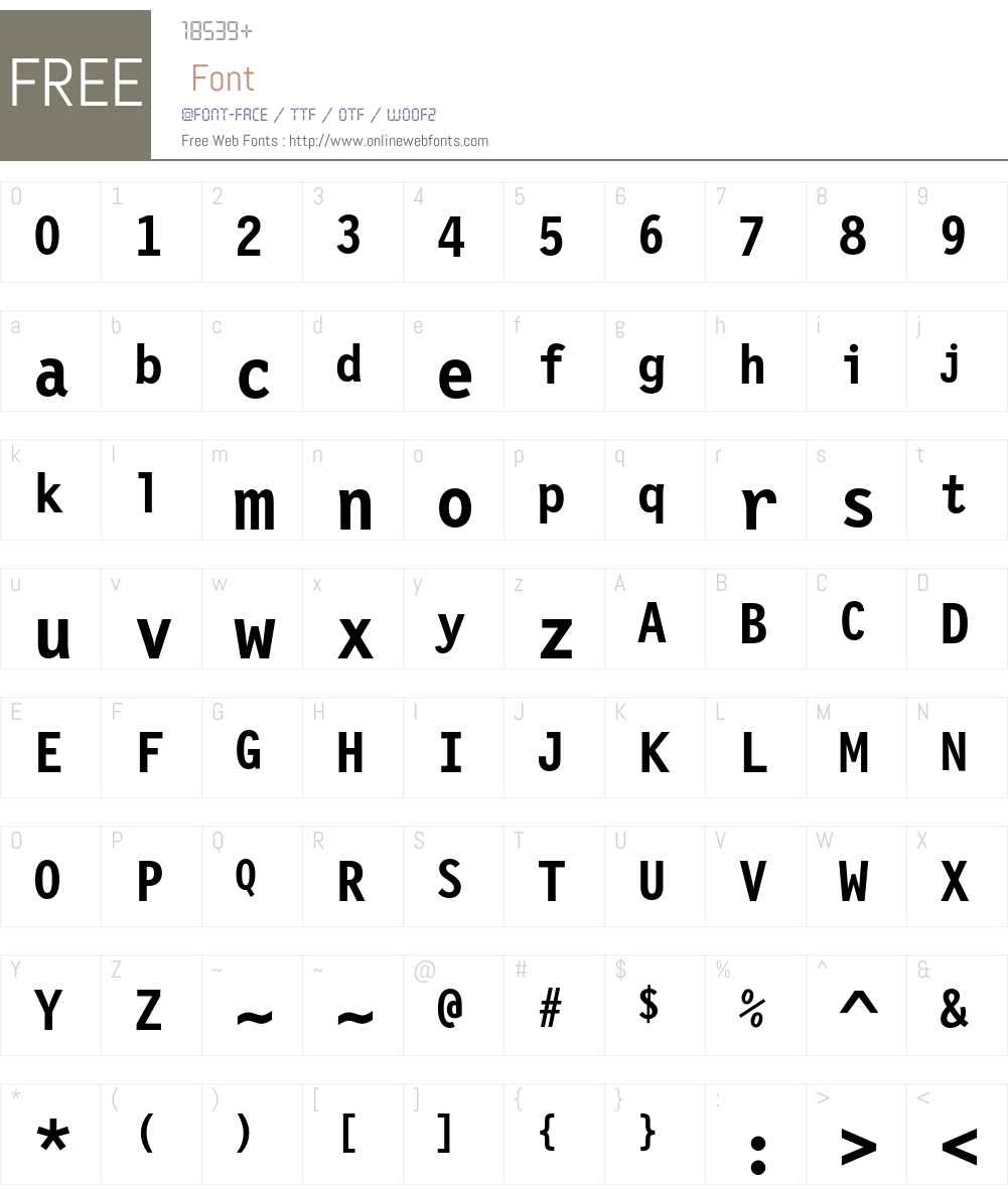 Letter Gothic 12 Pitch Font Screenshots