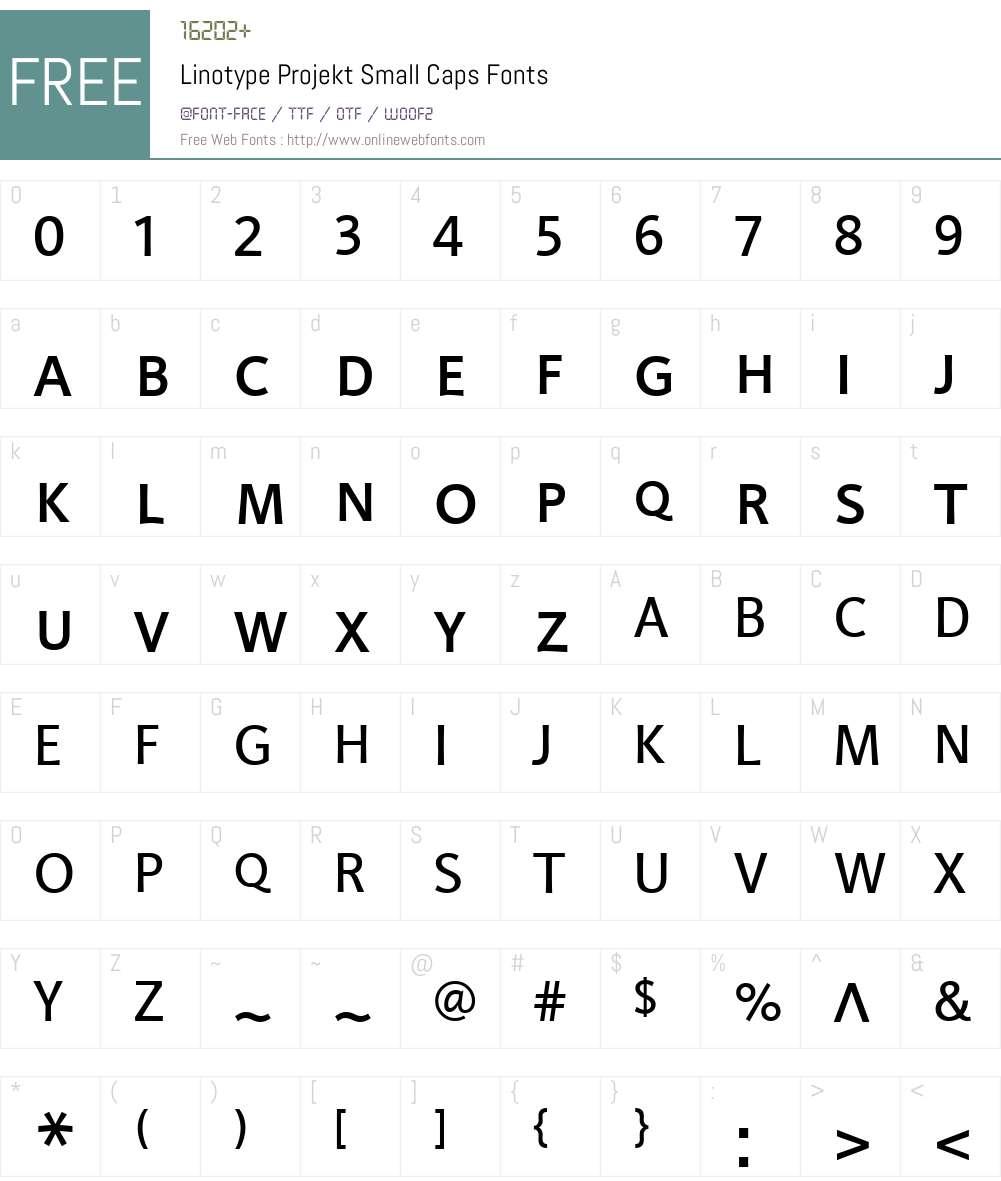 LTProjekt SC Font Screenshots