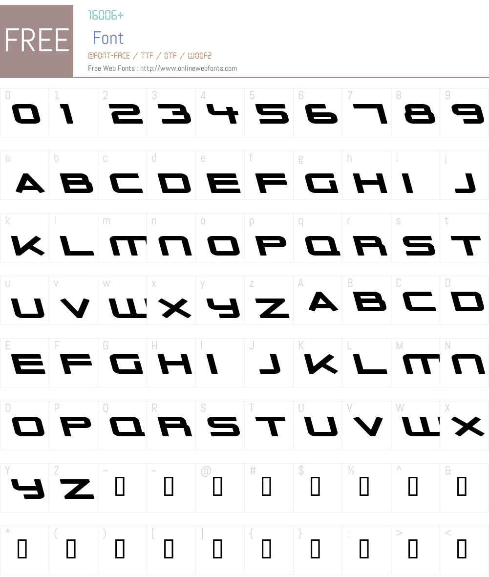 Outer Limits Solid Extended Font Screenshots
