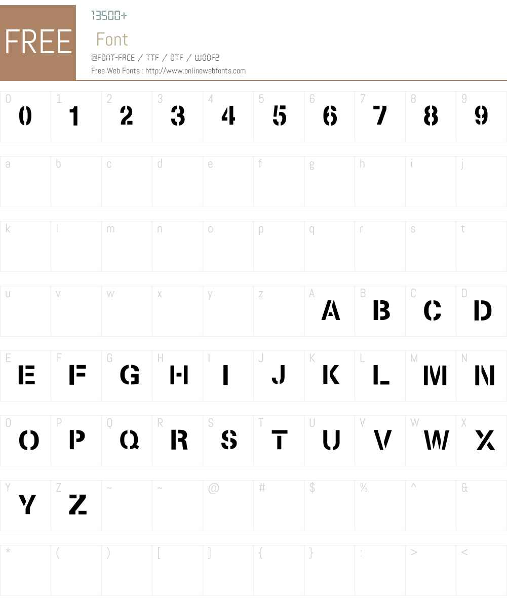 -~gpUoe Font Screenshots