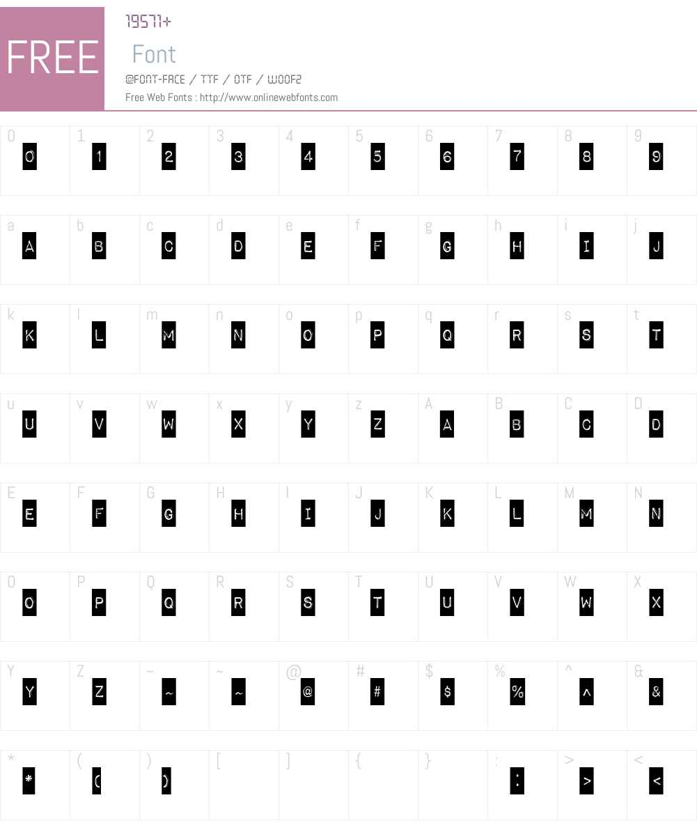 Impact Label Font Screenshots