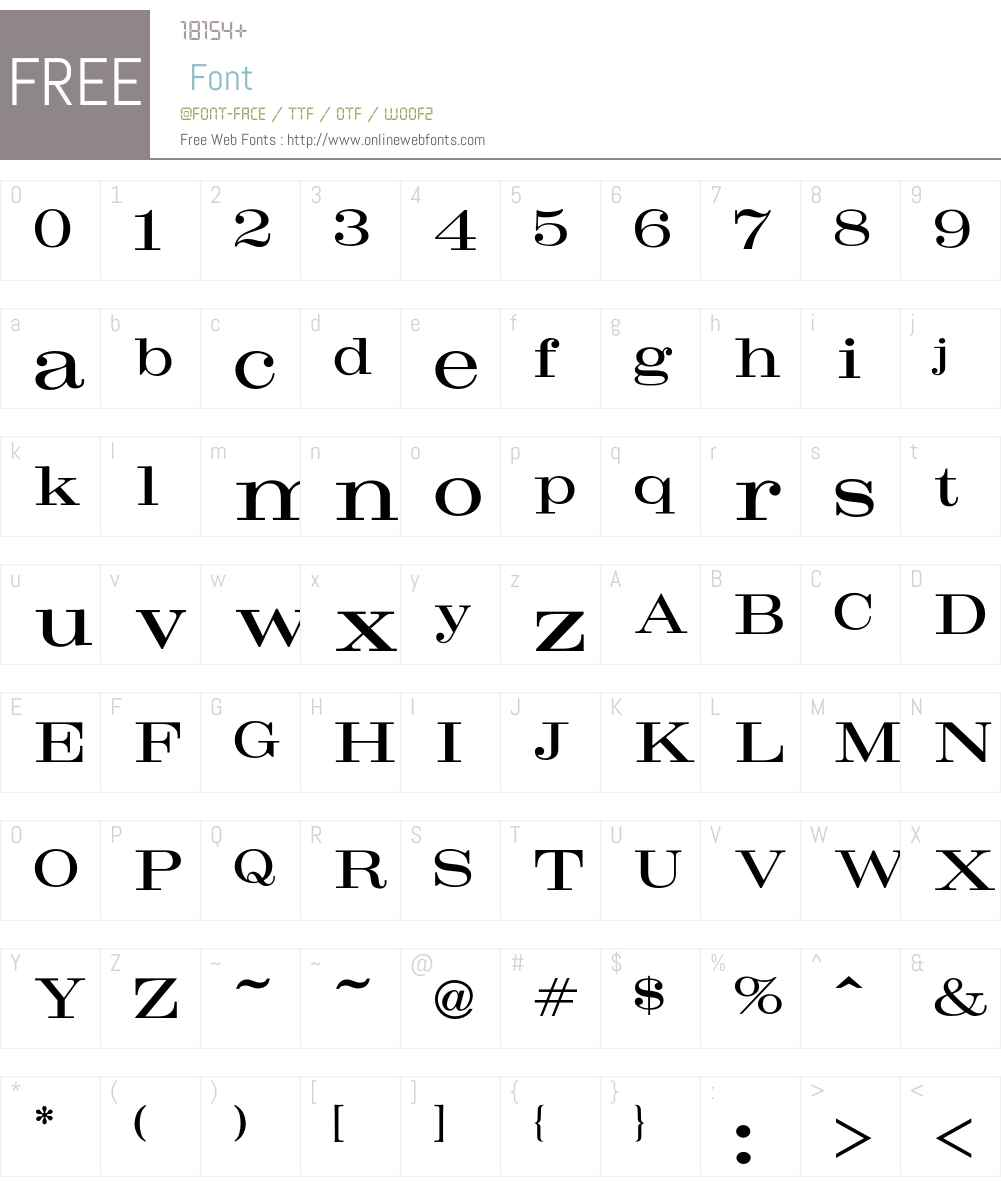 Craw Font Screenshots