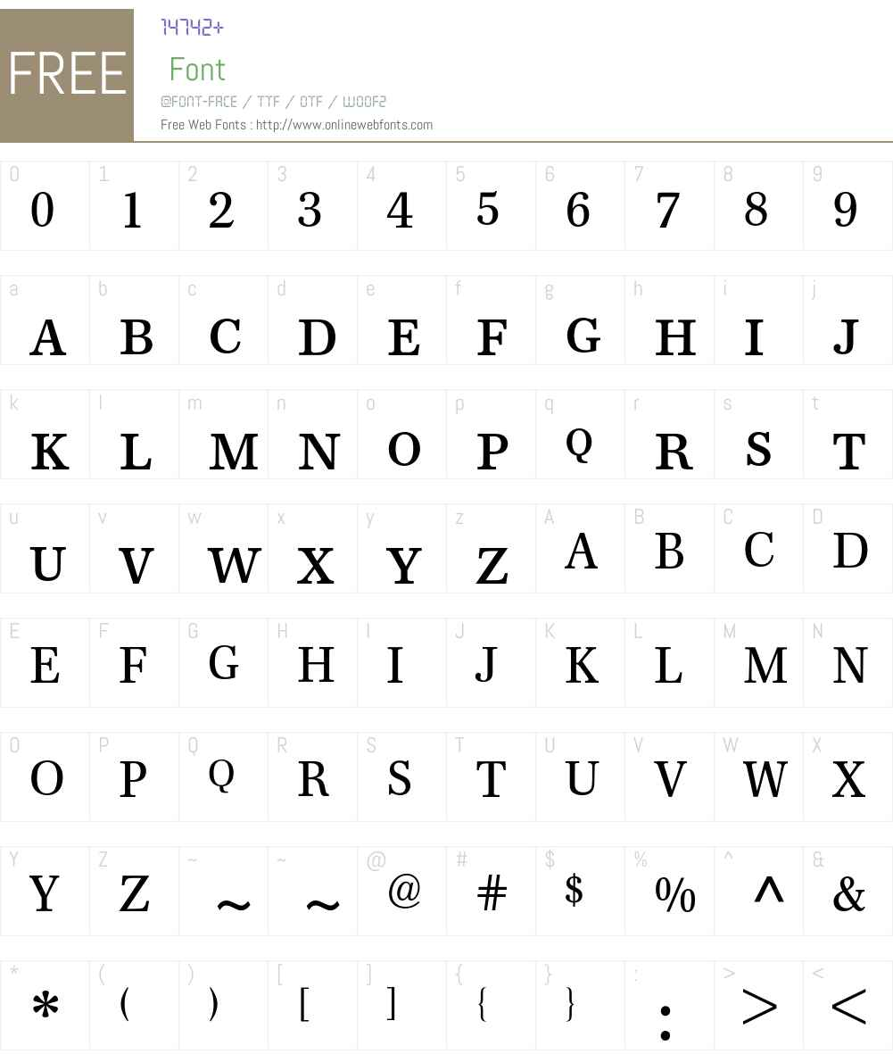 Franklin-Antiqua Expert BQ Font Screenshots