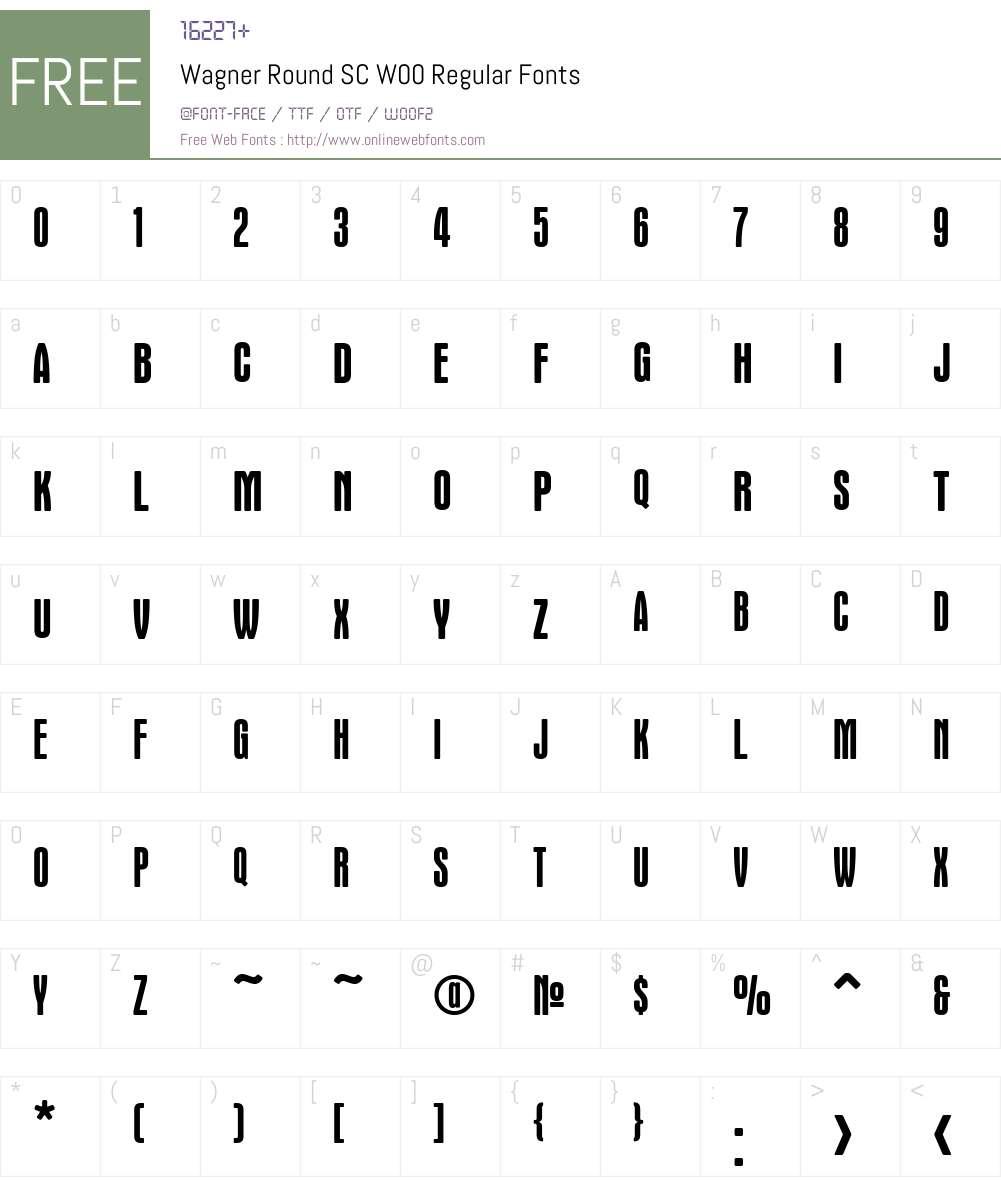 WagnerRoundSCW00-Regular Font Screenshots