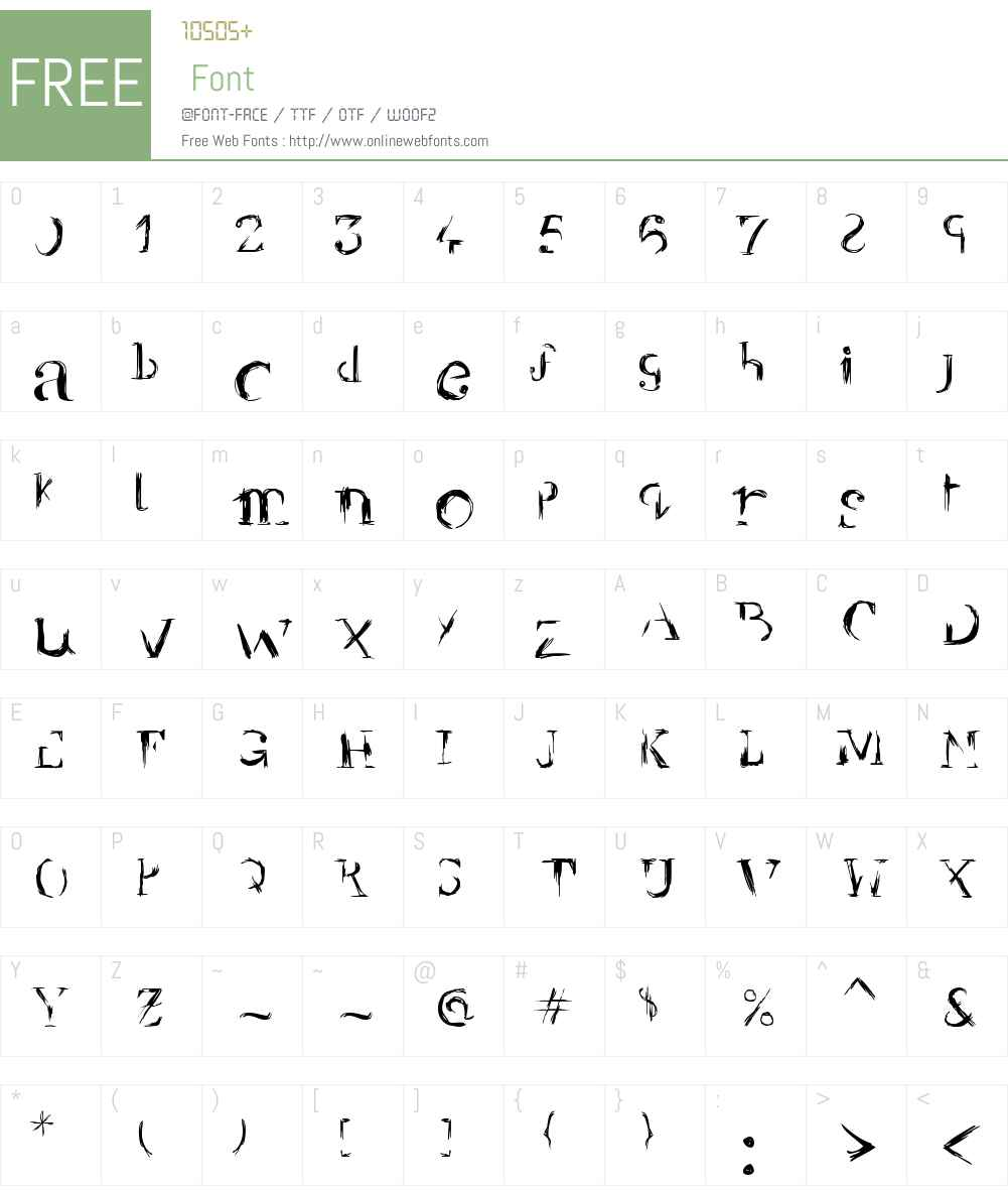 YBR Brokedown Font Screenshots