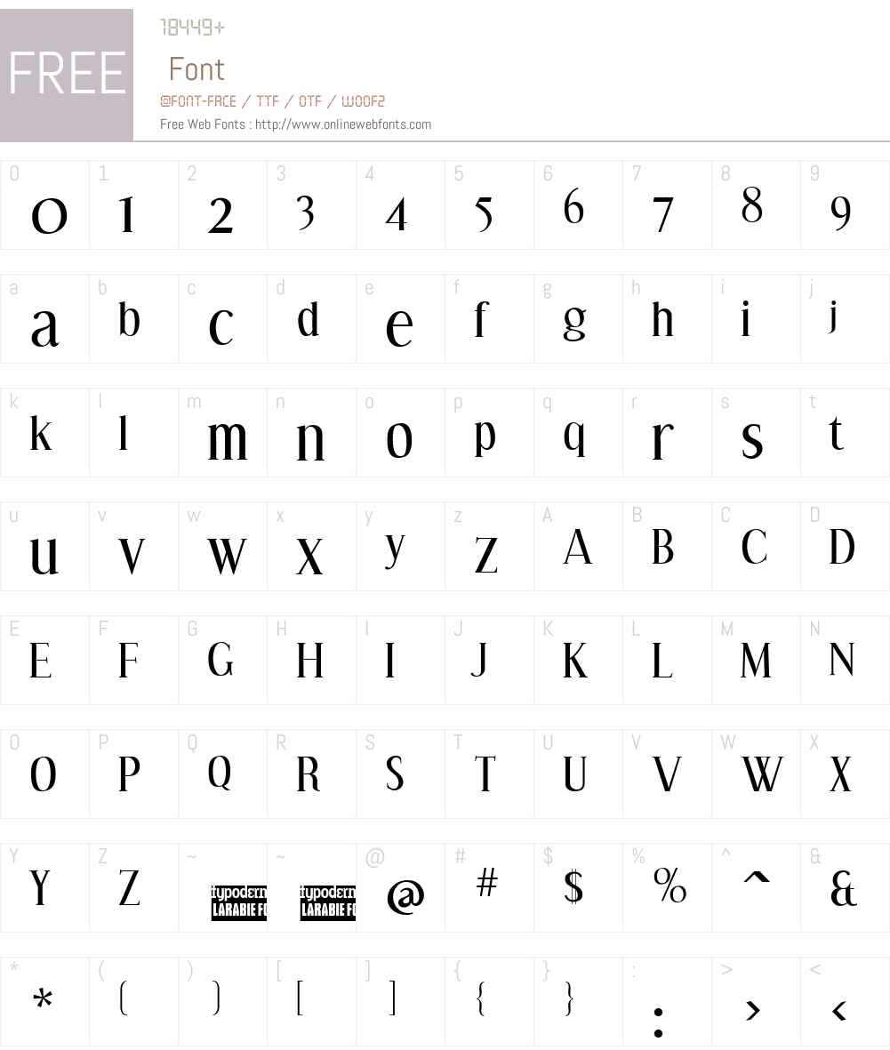Effloresce Font Screenshots