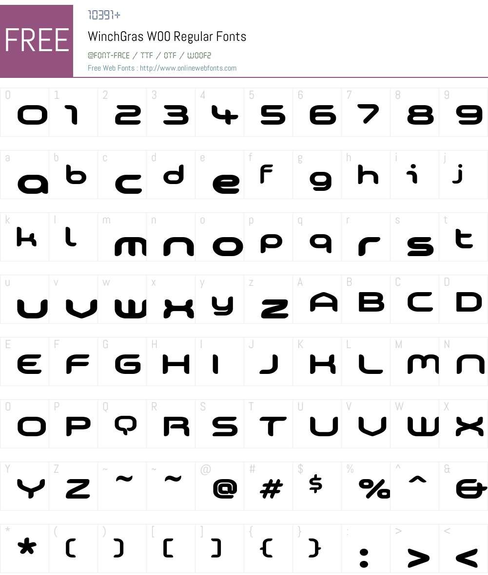 Winch Font Screenshots