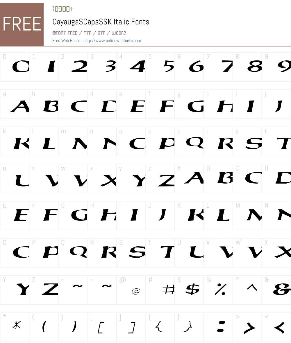 CayaugaSCapsSSK Font Screenshots