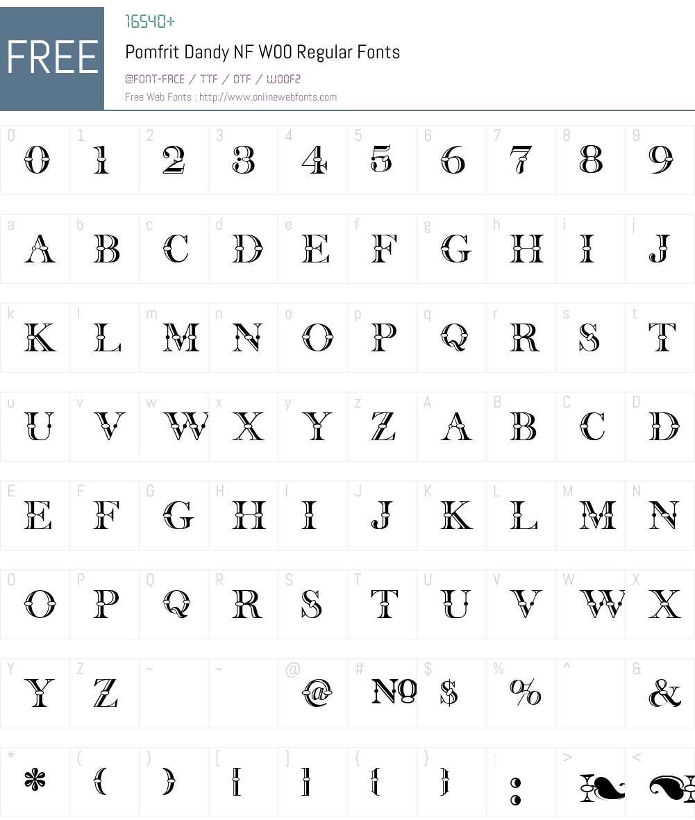 PomfritDandyNFW00-Regular Font Screenshots