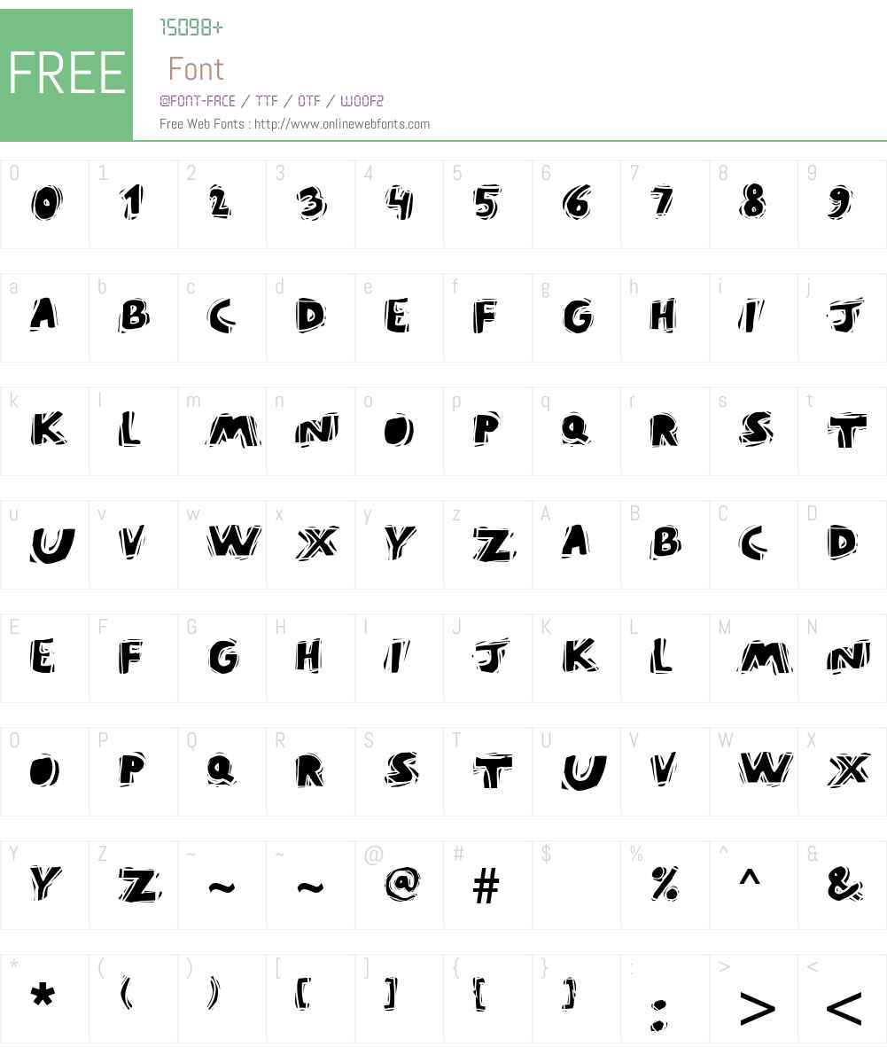 PuraVida Font Screenshots