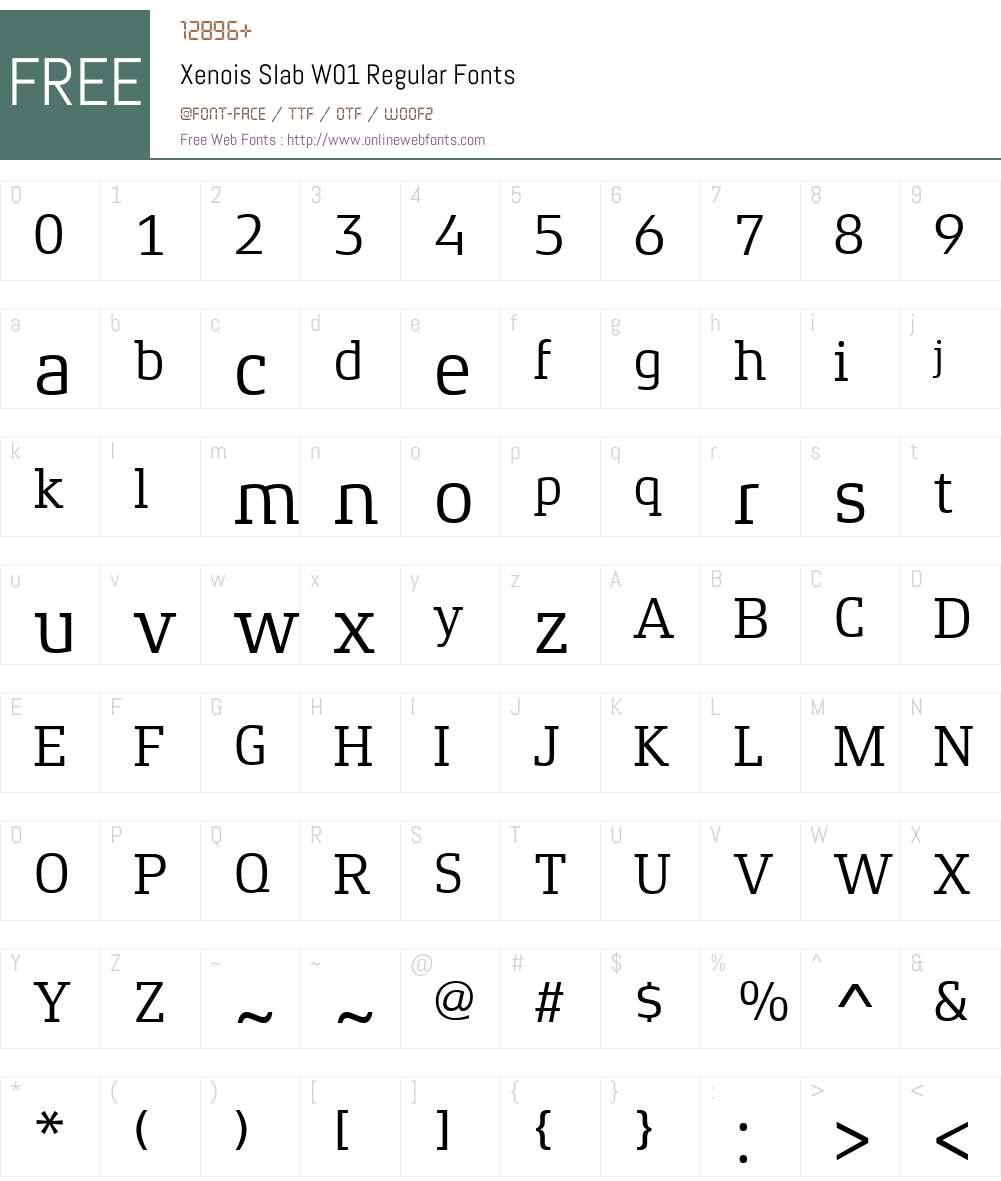 XenoisSlabW01-Regular Font Screenshots