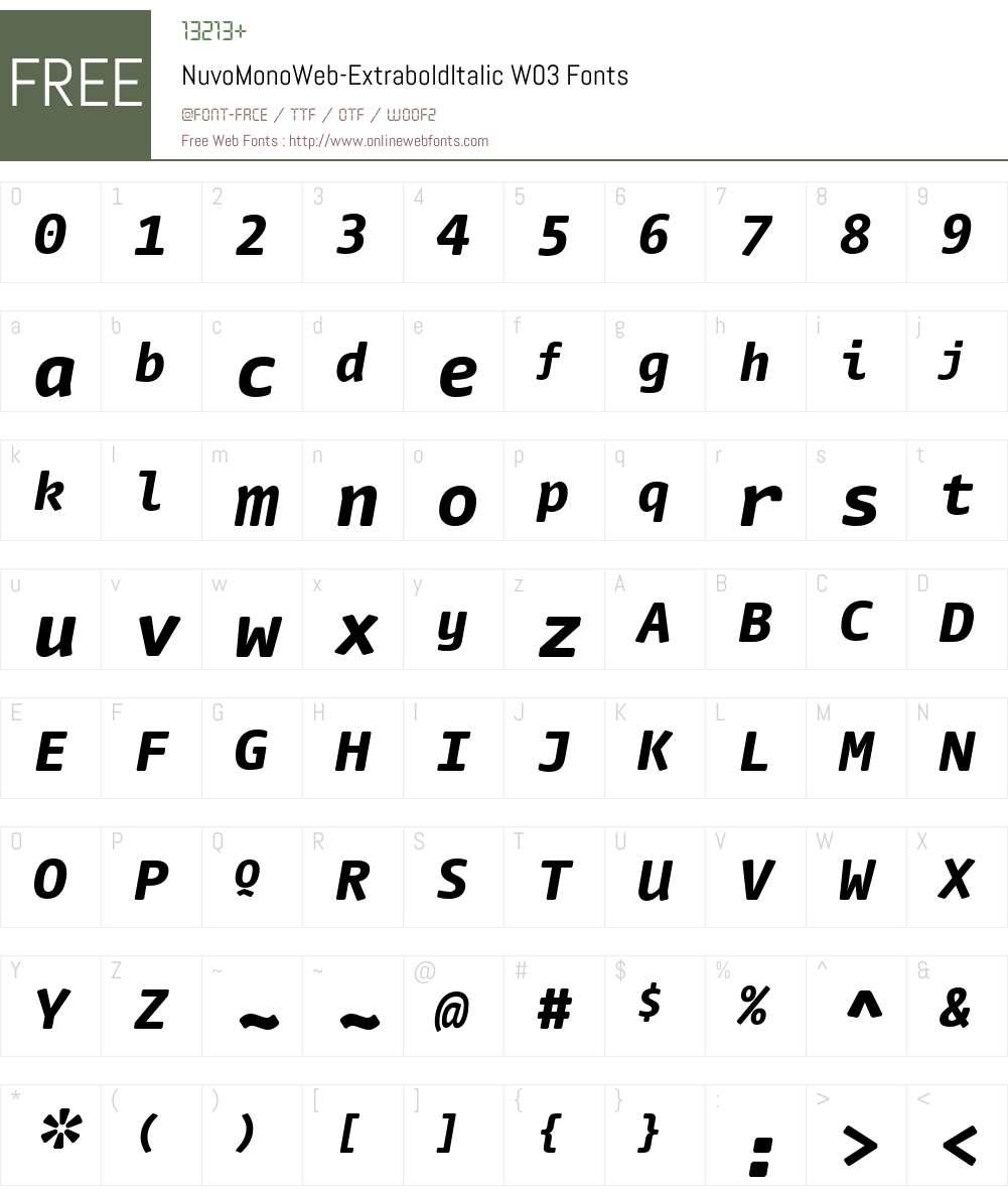 FF Nuvo Mono Font Screenshots