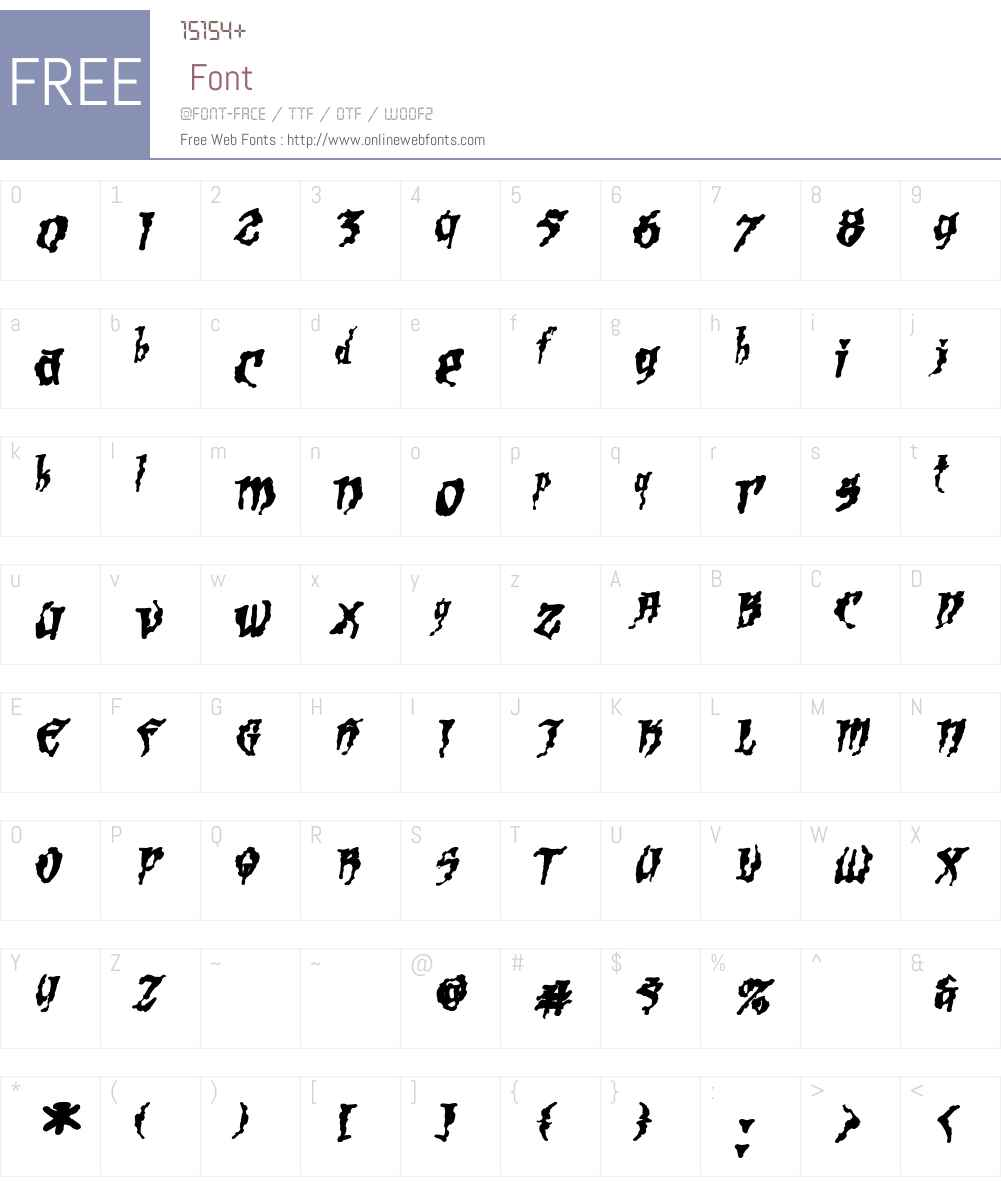 Scalper Ink Font Screenshots
