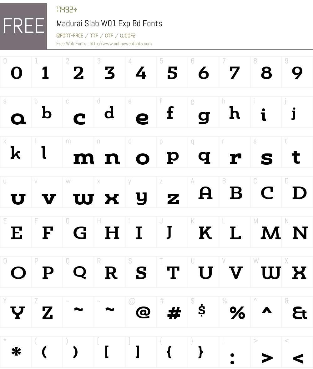 MaduraiSlabW01-ExpBd Font Screenshots