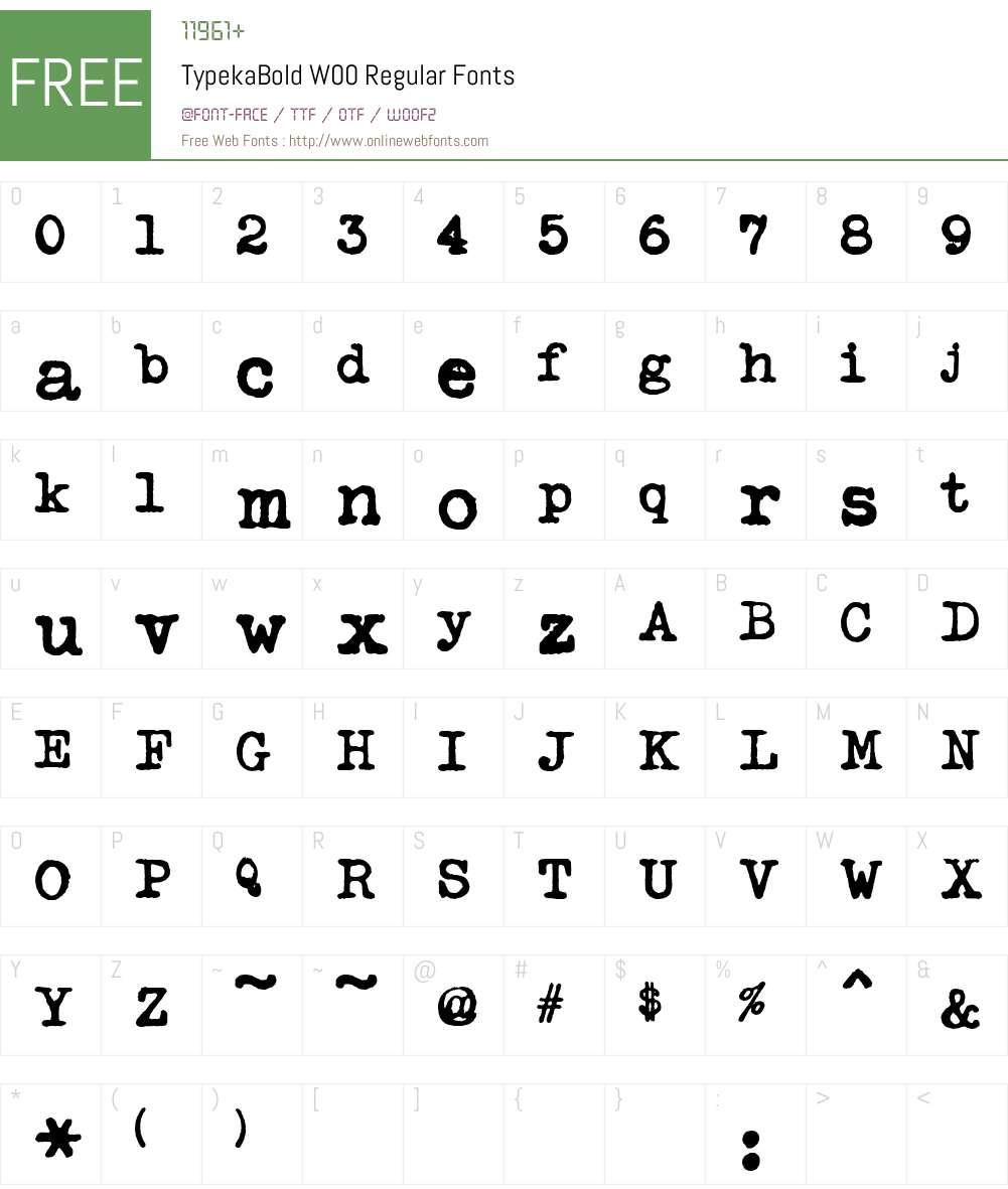 Typeka Font Screenshots