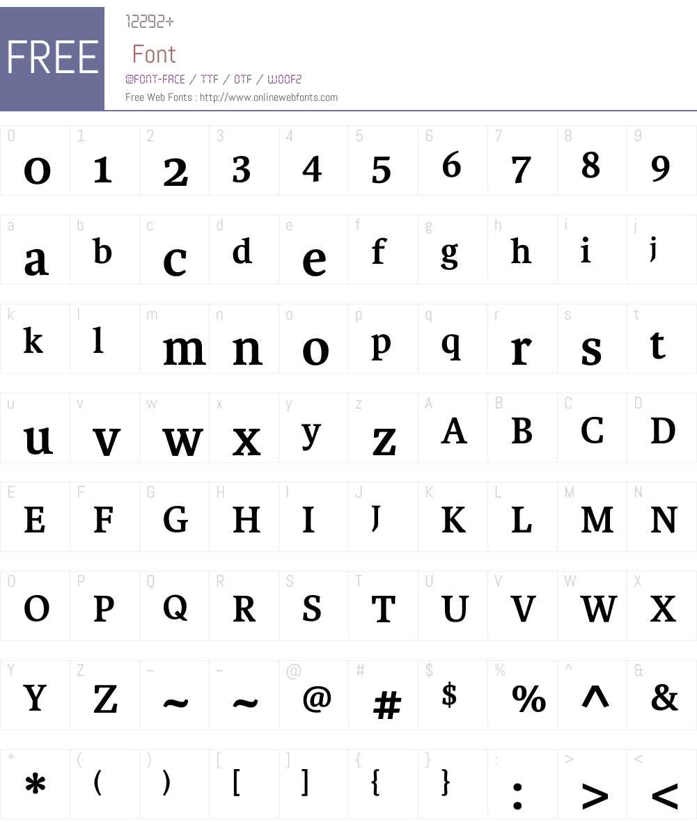 Karmina Font Screenshots