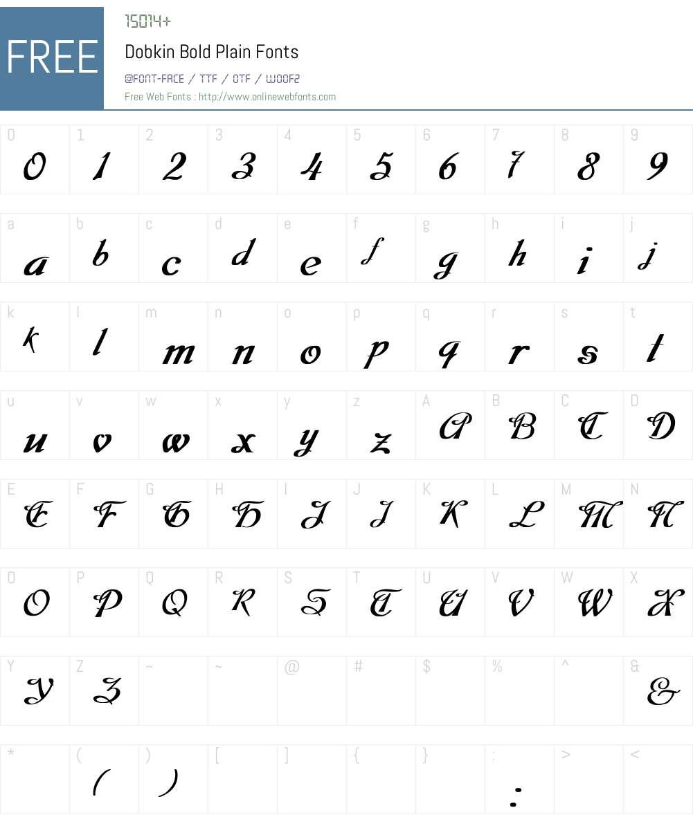 Dobkin Bold Font Screenshots