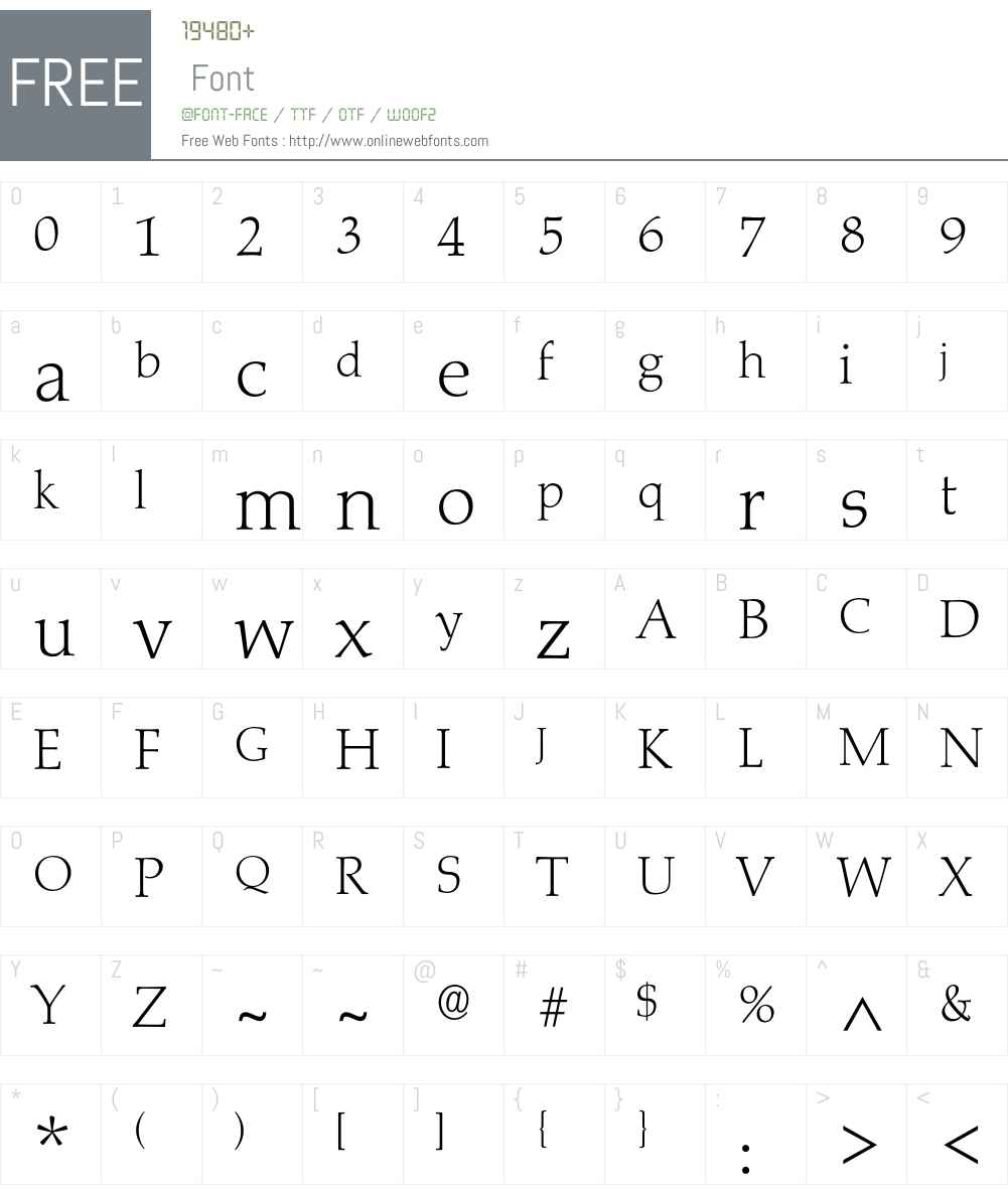 Marath-Xlight Font Screenshots