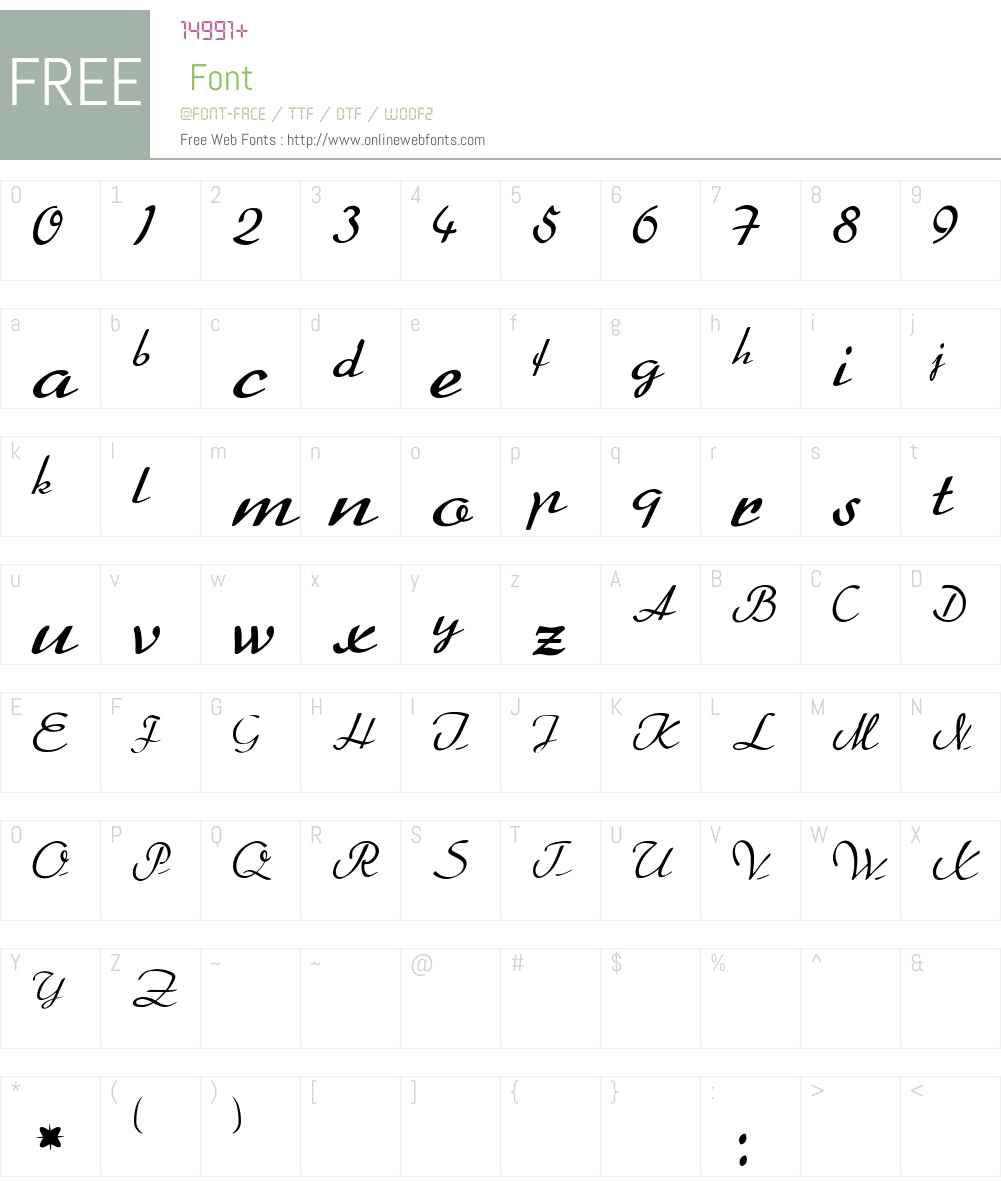 BetterHeather Font Screenshots