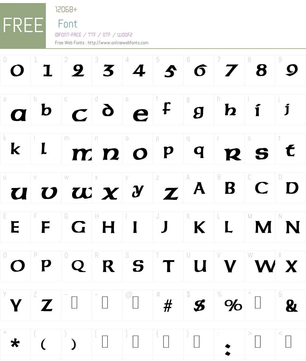 Unziale Font Screenshots
