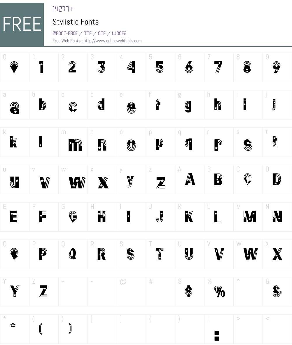 Stylistic Font Screenshots