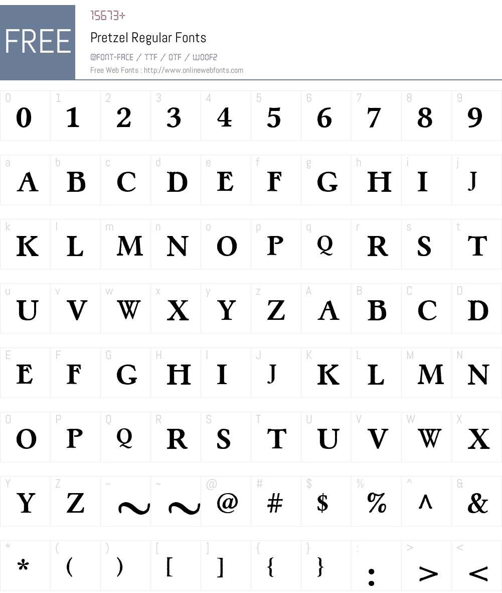 Pretzel Font Screenshots